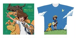 Butter-Fly Music Library 渡辺けんじ氏描きおろしKOJI WADA DIGIMON MEMORIAL BEST-sketch1-柄 [フルグラフィックTシャツ付]