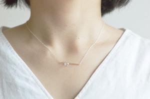 ハーキマーダイヤモンドのスティックネックレス
