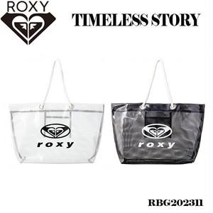RBG202311 ロキシー トートバッグ レディース 女性 トート バッグ 肩掛け 黒 白 クリア ロゴ 撥水 旅行 水泳 かわいい プレゼント 人気 ブランド ROXY