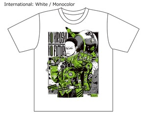 [White / Monocolor] Collaborative T-shirt by Hiroshi Matsuyama (CyberConnect2) and jbstyle.