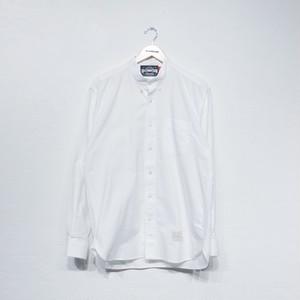 OXFORD COLLARLESS SHIRT ( WHITE )