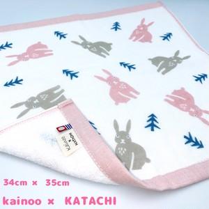 【送料無料】今治タオル KATACHI 新柄 うさぎ ガーゼウォッシュタオル 34×35cm
