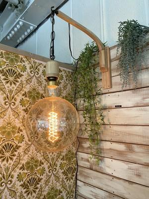 木製ブラケットライト(エジソンランプ)