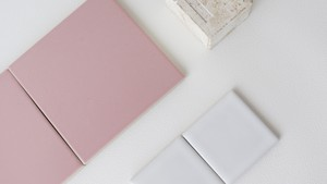 四角いタイル ピンク square tile pink