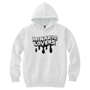 minario / LOVERS LOGO HOODED SWEATSHIRT WHITE