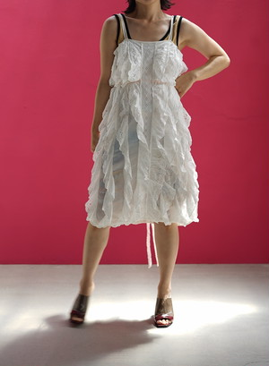 Vintage Eyelet Ruffle Dress