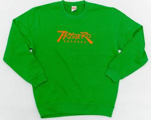 Trystero Records LOGO SWEAT Vegetable(グリーンxオレンジ)