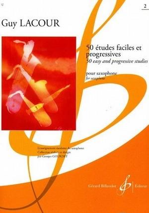 ラクール:50の易しく漸進的な練習曲 第2巻/サクソフォーン