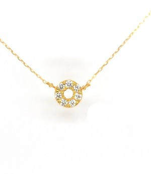 Amulet angel HALO diamond necklace K18YG