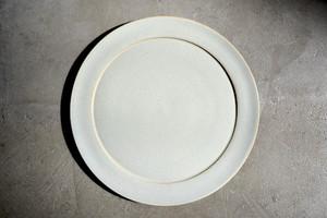 安藤由香 plate8寸 ブルーグレー