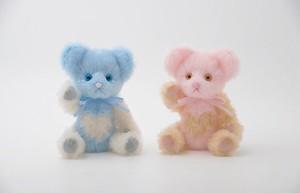 テディベア/ピンク&ブルー
