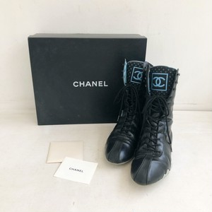 CHANEL laceup sneaker shoes