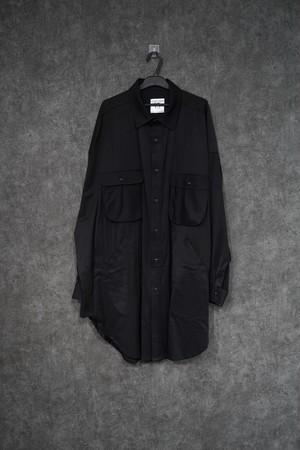 room.13 glass shirt Black
