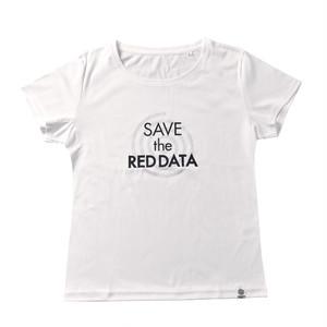 RED DATA Tシャツ Women's(ホワイト)