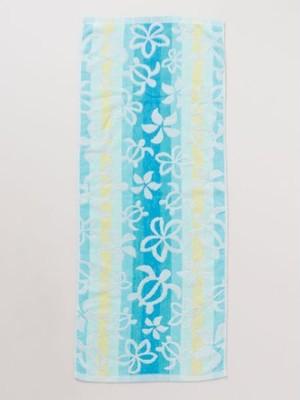 ≪再入荷≫【kahiko/カヒコ】ハワイアンフェイスタオル フラレッスンの時に使いたい♪ ふわふわ ブルー