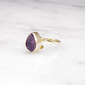 ROUGH STONE RING GOLD 006