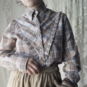 Victorian Check Blouse