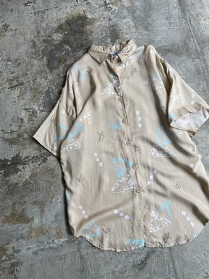 vintage rayon shirt - beige -