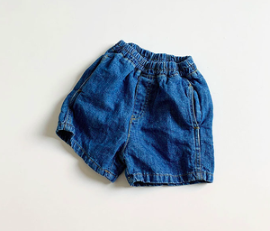 denim half pants