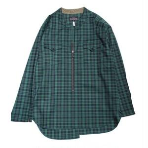 quolt CHECK ZIP-SHIRTS / クオルト シャツ / GREEN /  901T-1124