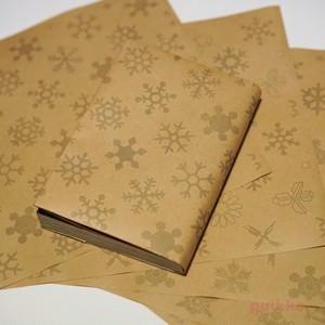 紙製ブックカバー 雪の結晶