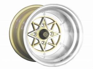 colin project STAR SHARK スターシャーク 復刻版ホイール 14x12.0J -61 114.3-4H ゴールド 2本セット【新品】44034
