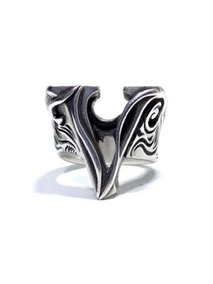 alphabet ring#V (silver925) - アルファベットモチーフ リングV-