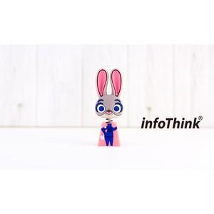 InfoThink USBメモリ Disney ズートピア USBフラッシュドライブ 16GB ジュディ・ホップス