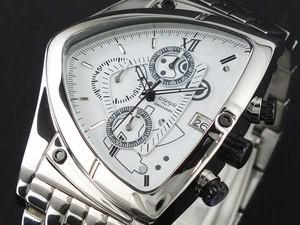 コグ COGU アシンメトリー クロノグラフ 腕時計 メタルベルト C43M-WH ホワイト ホワイト