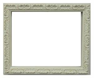 額縁アンティークおしゃれフレームホワイトA-20161 額縁寸法インチ(254mm×203mm) 窓枠寸法240mm×189m 2mmアクリル 箱付き 完品