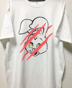 PsychoRabbit フロントプリント蛍光ピンク