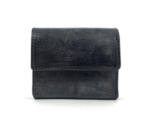 RE.ACT Bridle Leather Three Fold Compact Wallet Black