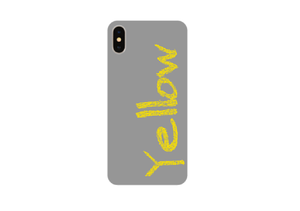 "【受注発注】words color series ""Yellow"" 強化ガラス仕上げ iphone case 7/7Plus/8/8Plus/X/XS Max/XR"