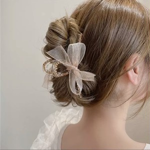 tulle ribbon hair clip 2color