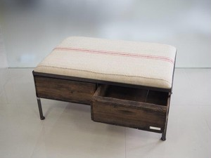 品番UESW-118  2drawer ottoman[wide/European grain sacks]