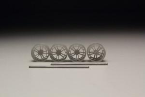 8.5mm Vossen LC2-C1 タイプ 3Dプリント ホイール 1/64 未塗装