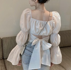 candee puff sleeve tops 2color