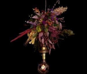 10 color flower 1920us Antique hanging lamp