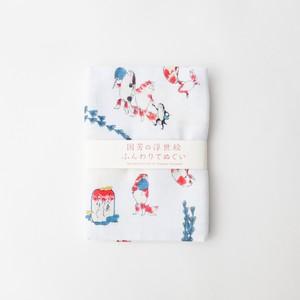 歌川国芳 ガーゼ手拭い 金魚