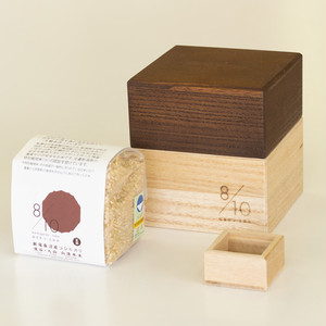 Kamo Kiri Rice Box 500g with Mini Measure Cup and Uonuma Koshihikari Brown Rice|Brown