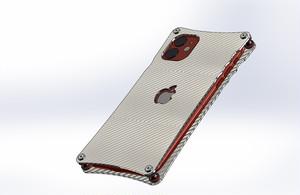 iPhone11用シルバーカーボンケース