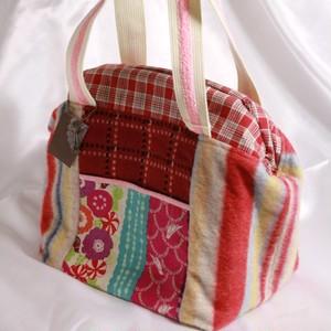 赤ウールのドクターズバッグ