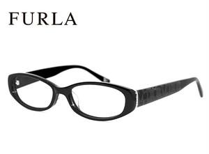 フルラ メガネ VU4805j 700 FURLA 眼鏡 ジャパンフィット モデル ブラック セル フレーム レディース 女性用