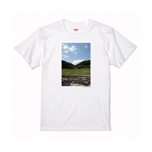 【寄付対象】【CHIKUGO百景】川と山と空Tシャツ(送料無料)