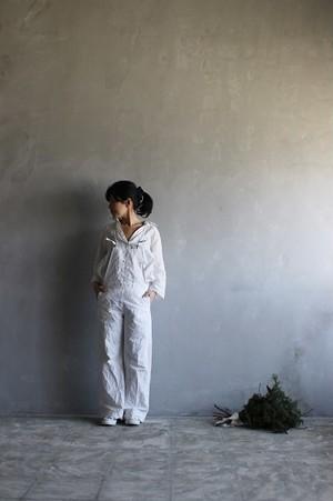 linenu works サロペットパンツ(バギー)ホワイト 【サイズ2】