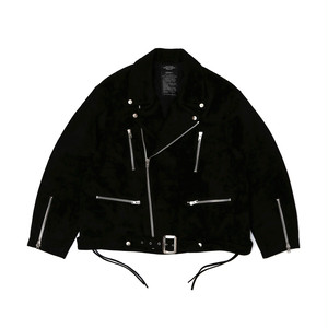 "UNUSED for SO JOHN ""SUEDE BIG RIDERS JACKET""(BLACK)"