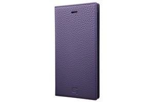 GRAMAS Shrunken-calf Full Leather Case for iPhone 7 Plus(Purple) シュランケンカーフ 手帳型フルレザーケース