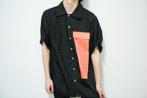 orange pocket shirt