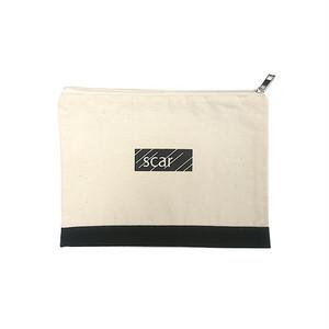 scar /////// BLACK BOX TOOL POUCH (Medium) (Natural / Black)