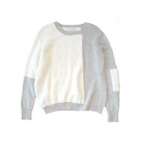 Colour Block Sweater / White